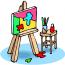 """Slike: """"Eksperimentalne likovne tehnike u radu sa darovitom i decom sa smetnjama u razvoju"""", 13-14.12.2013."""